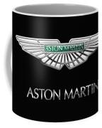 Aston Martin 3 D Badge On Black  Coffee Mug