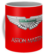 Aston Martin - 3 D Badge On Red Coffee Mug