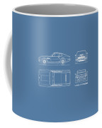 Aston Martin V8 Vantage Blueprint Coffee Mug
