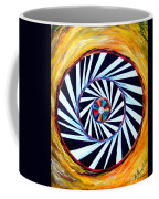 Astral Map Of The World. Black And White Stripes Coffee Mug