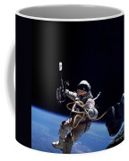 Astronaut Floats In Space Coffee Mug