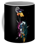 Astronaut Ufo Balloon Outer Space Shuttle  Coffee Mug