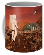 Astronaut Walking Across The Surface Coffee Mug