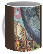 Astronomers Looking Through A Telescope Coffee Mug by Andreas Cellarius