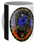 Astronomical Clock In Grunge Style Coffee Mug