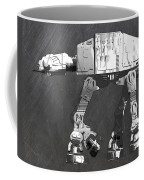 At At Walker From Star Wars Vintage Recycled License Plate Scrap Metal Art Coffee Mug