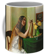 At The Dressing Table Coffee Mug by Felix Edouard Vallotton