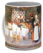 at the florist 1889 Childe Frederick Hassam Coffee Mug