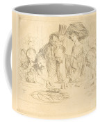 At The Gambling Table (second Plate) Coffee Mug