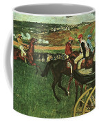 At The Races, Digitally Enhanced, Edgar Degas, Digitally Enhanced Maximum Resolution Coffee Mug