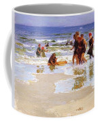 At The Seashore Edward Henry Potthast Coffee Mug
