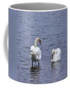 At Your Service. Mute Swan Coffee Mug