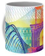 Athens Landmarks Watercolor Poster Coffee Mug