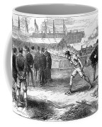 Athletics: Shot Put, 1875 Coffee Mug