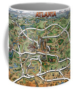 Atlanta Cartoon Map Coffee Mug