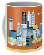 Atlanta Georgia Horizontal Skyline Coffee Mug