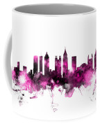 Atlanta Georgia Skyline Pink Coffee Mug