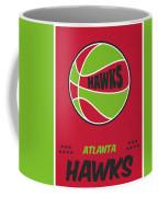 Atlanta Hawks Vintage Basketball Art Coffee Mug