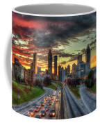 Atlanta Nite Lights Atlanta Downtown Cityscape Art Coffee Mug