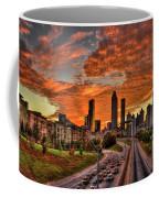 Atlanta Orange Clouds Sunset Capital Of The South Coffee Mug