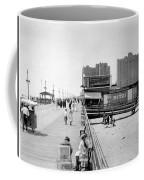 Atlantic City 1920 Boardwalk Promenade, Beach Sand, Signs Apollo Theatre, Mitzi  Coffee Mug