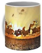 Atlantic Ocean Sunset In Oil  Coffee Mug