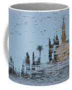 Atmospheric Hala Sultan Tekke Reflection At Larnaca Salt Lake Coffee Mug