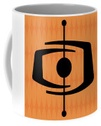 Atomic Shape 1 On Orange Coffee Mug