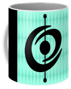Atomic Shape 2 On Aqua Coffee Mug