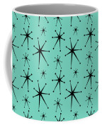 Atomic Starbursts Mini Coffee Mug by Donna Mibus