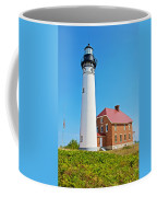 Au Sable Lighthouse In Pictured Rocks National Lakeshore-michigan  Coffee Mug