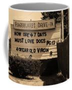 Auburn, Ny - Drive-in Theater Sepia Coffee Mug