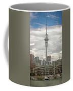 Auckland New Zealand Sky Tower Textured Coffee Mug