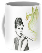 Audrey And Her Magic Dragon Coffee Mug by Olga Shvartsur