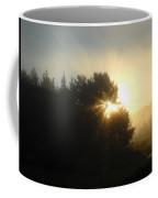 August Fog Sunrise Light Rays Coffee Mug
