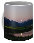 August Moon Over Mission Mountains And Ninepipes Refuge  Coffee Mug