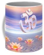 Aum - Om Upon Waterlilies - 3d Render Coffee Mug