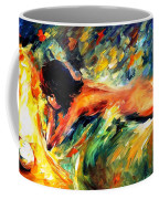 Aura Of Love - Palette Knife Oil Painting On Canvas By Leonid Afremov Coffee Mug