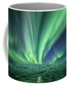 Aurora At Glacier Lagoon Coffee Mug