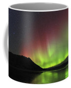 Aurora Borealis Milky Way And Big Coffee Mug