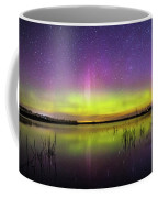 Aurora Borealis Over Lake Sinai Coffee Mug
