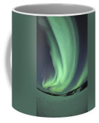 Aurora Borealis Over Prosperous Lake Coffee Mug