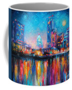 Austin Art Impressionistic Skyline Painting #2 Coffee Mug