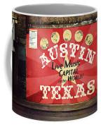 Austin Live Music Coffee Mug