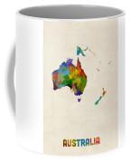 Australia Continent Watercolor Map Coffee Mug