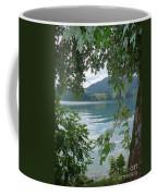 Austrian Lake Through The Trees Coffee Mug
