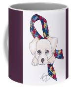 Autism Awareness And Puppy Love Coffee Mug