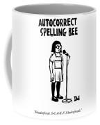 Autocorrect Spelling Bee Coffee Mug