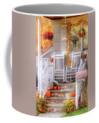 Autumn - House - My Aunts Porch Coffee Mug by Mike Savad
