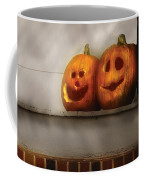 Autumn - Pumpkins - Two Goofy Pumpkins Coffee Mug